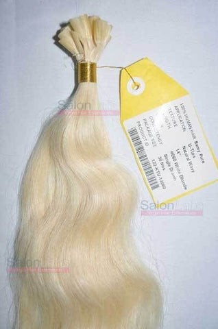 U Tip Hair Extensions - White Blonde #060
