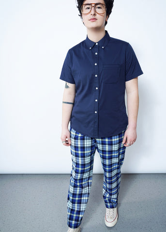 Ace SS Button Up in Navy