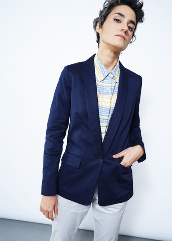 Ace Tux Blazer in Navy