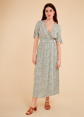 Ando Tie Sleeve Button Front Dress