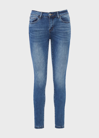 Mid Rise Ankle Skinny Dew Drop Jeans