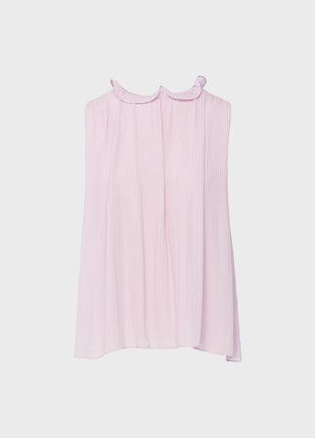 Ruffle Neck Pleated Top