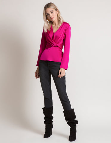 Kylie Top in Fuschia