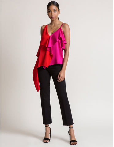 Kendall Top in Flame And Fuschia