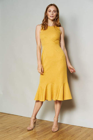 Marina Dress in Mustard Knit