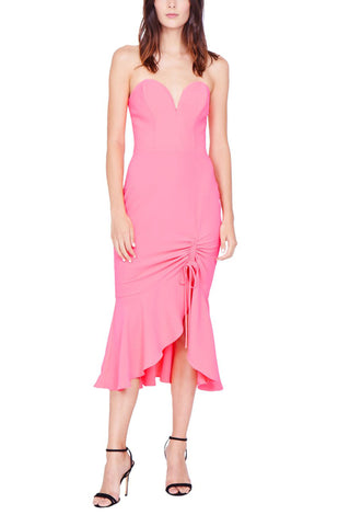 Rayna Dress in Fluro Pink