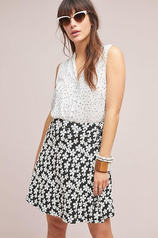 Claire Skirt in Black/White Floral