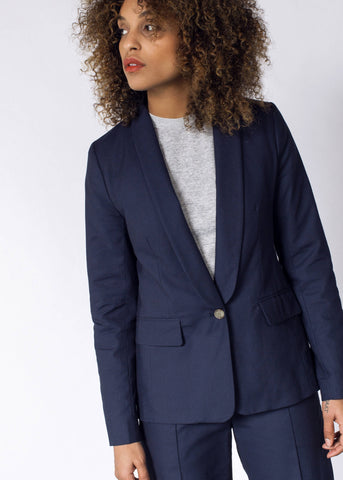 Empower Pique Tux Blazer in Navy