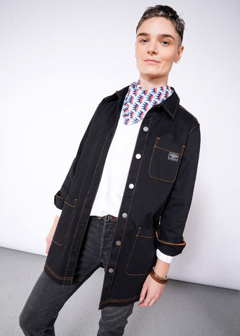 Workwear Chore Coat in Black