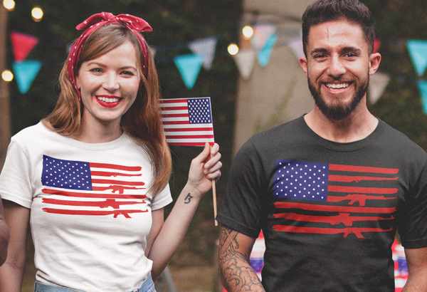 American Rifle Flag Shirt for Men and Women