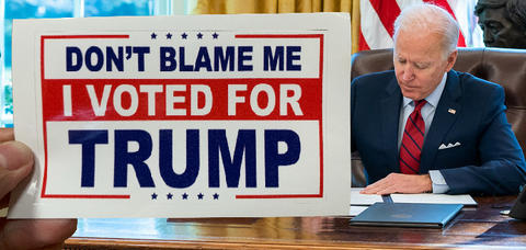 Don't Blame Me I Voted for Trump Sticker