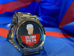 "Trump 2024 ""The Revenge Tour"" Wrist Watch - Navy Face"