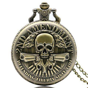 2nd Amendment Commemorative Pocket Watch - Defending Liberty Since 1791