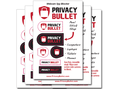 Privacy Bullet Webcam Spy Blockers (5-Pack)