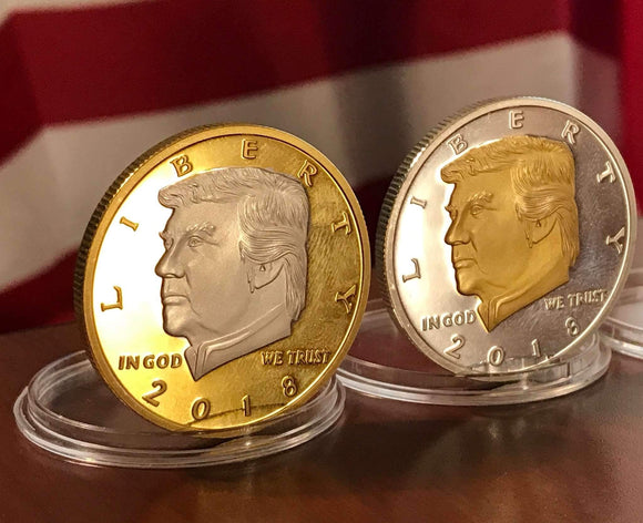 2018 Trump Presidential Legacy Gold & Silver Two Tone Coin Collector's Set
