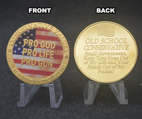 Conservative Values Gold Coin