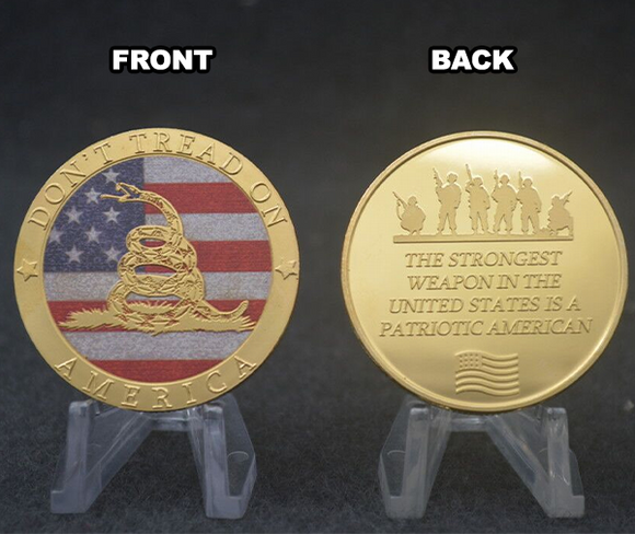 Don't Tread On America Gold Coin