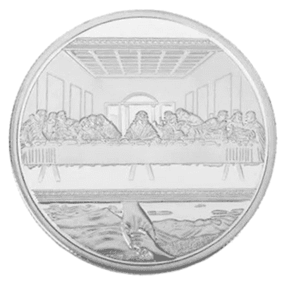 Jesus Christ Last Supper Collectable Coin - Silver Plated