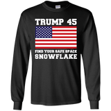 Trump 45 Snowflake Long Sleeve T-Shirt
