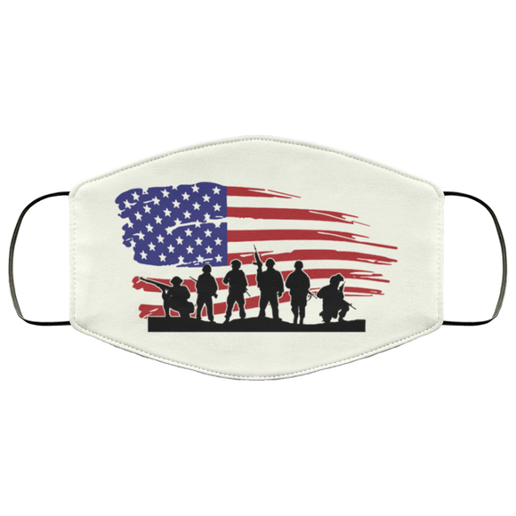 US Armed Forces Veteran Reusable Daily Face Mask