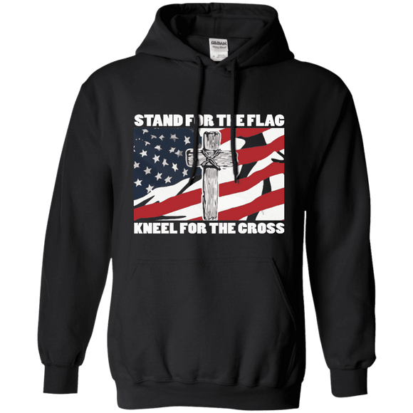 I Stand For The Flag, Kneel For The Cross Hoodie