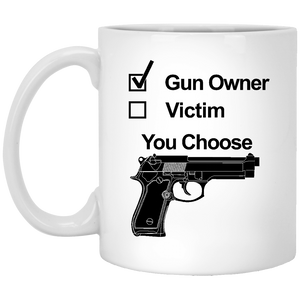 Proud Gun Owner White Mug