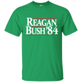Reagan Bush '84 Presidential Election Retro T-Shirt (Dark Shirts)