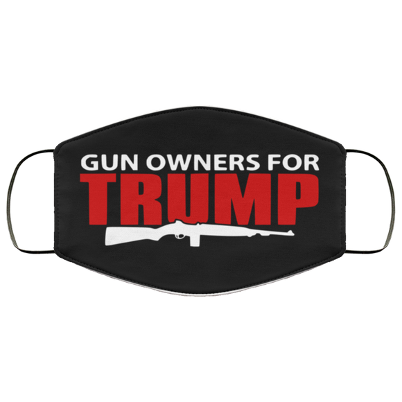 Gun Owners for Trump Reusable Face Mask