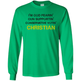 God-Fearing Conservative - LS Ultra Cotton T-Shirt
