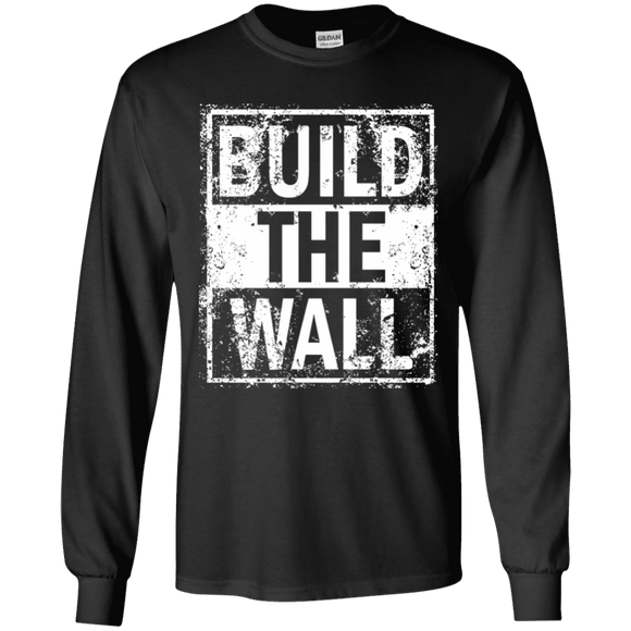 Build The Wall Trump Long Sleeve T-Shirt
