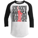USA Pledge of Allegiance Patriotic Sporty Long Sleeve T-Shirt