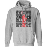 USA Pledge of Allegiance Patriotic Pullover Hoodie