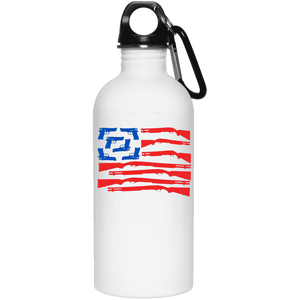 American Gun Flag - Stainless Steel Water Bottle