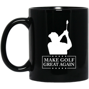 Trump Make Golf Great Again 2020 11 oz. Black Mug