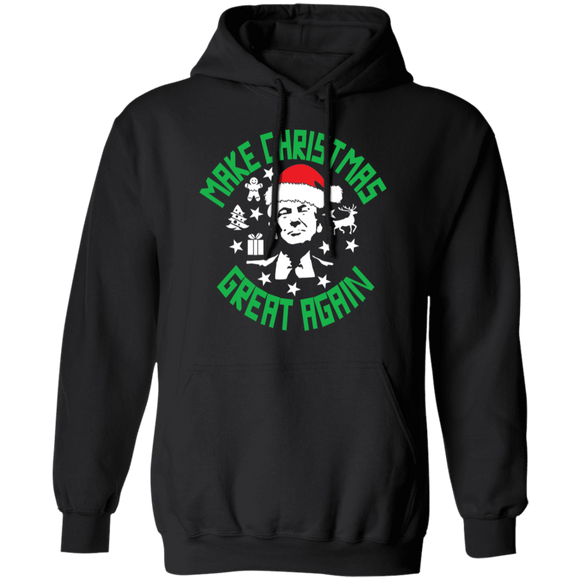 Make Christmas Great Again Trump Pullover Hoodie 8 oz.