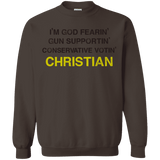 God-Fearing Conservative - Sweatshirt  8 oz.