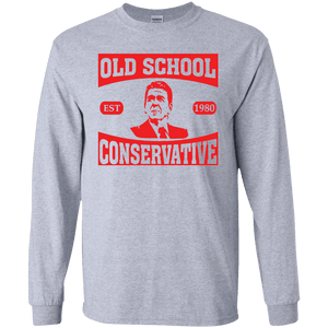 President Ronald Reagan Old School Conservative Long Sleeve Tee