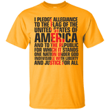 USA Pledge of Allegiance Patriotic Tee