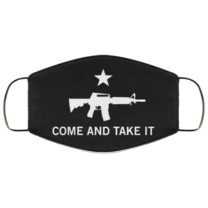 Come & Take it Gun Rights Reusable Daily Face Mask
