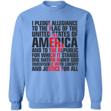 USA Pledge of Allegiance Patriotic Pullover Sweatshirt