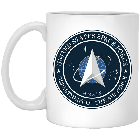Official Space Force Seal 11 oz. White Coffee Mug