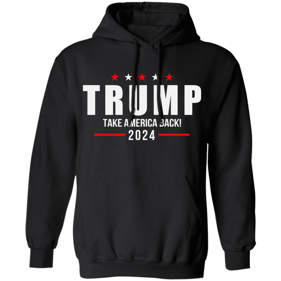 Trump 2024 Take America Back Campaign Pullover Hoodie