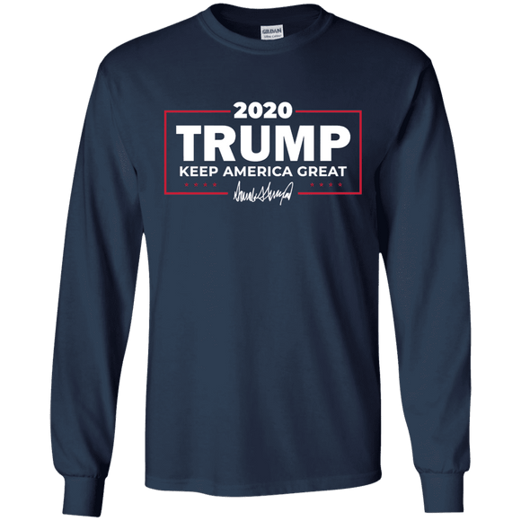 Keep America Great Trump 2020 Signature Long Sleeve T-Shirt