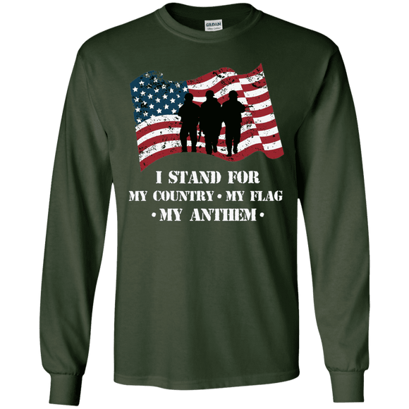 I Stand For The Anthem Patriotic Long Sleeve T-Shirt