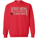 Free Men Don't Ask to Bear Arms Sweatshirt 8 oz.