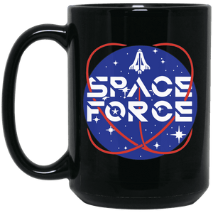 Trump Space Force Commemorative Black Coffee Mug
