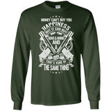 Money and Happiness Pro Gun Rights Long Sleeve T-Shirt