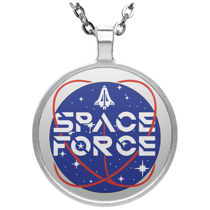 Trump's Space Force Logo Circle Necklace