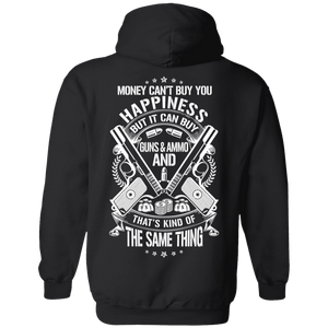 Money and Happiness Pro-Gun Rights Hoodie