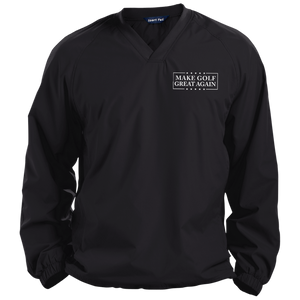 Trump Make Golf Great Again Pullover V-Neck Windshirt